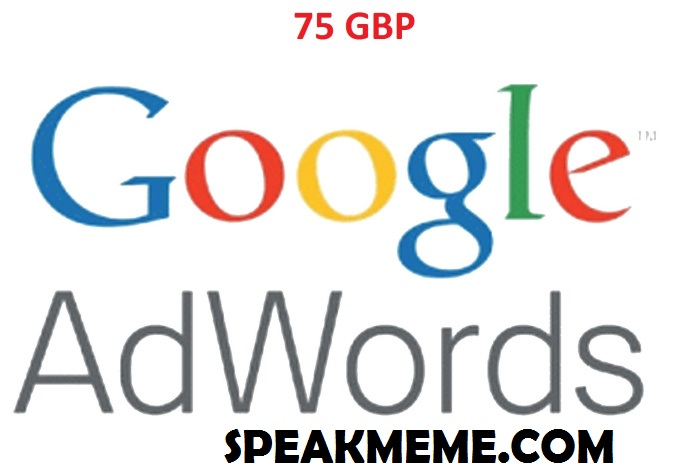 75 GBP Google adwords Coupon
