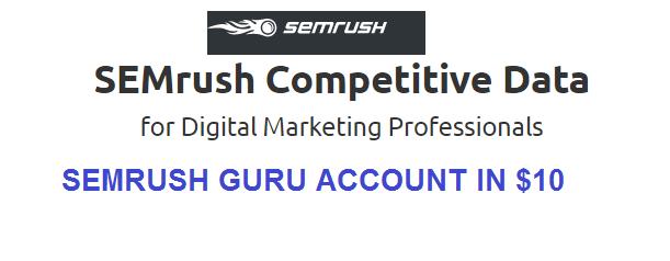 Semrush Account for Dummies