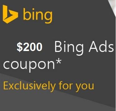 200$ Bing Coupon