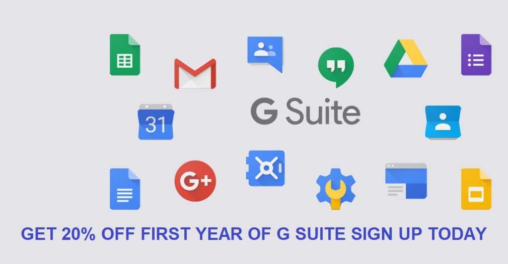 G Suite Promo Code 2018